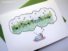I love the Sheeptails notecards!
