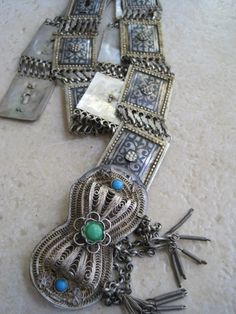 I am privileged to present this antique Turkish belt hand made of silver and niello. It is most likely to be from the late 19th century or early 20th