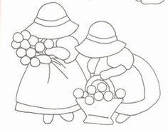 Embroidery Sun Bonnet Girls