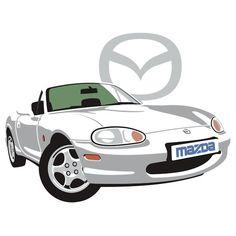Mazda MX-5 Miata NB white