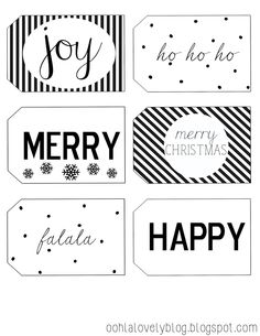 Ooh La Lovely Blog: Printable Christmas Tags