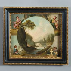 A Late 18th Century Oil on Panel, Depicting the Arts - Timothy Langston