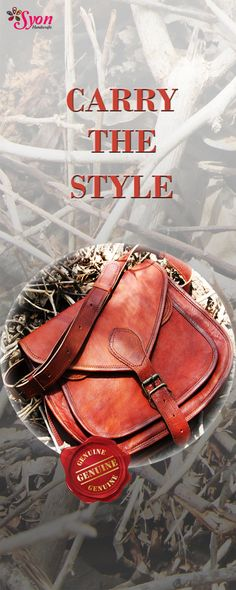 The cute & stylish goat leather bag by Syon Handicrafts !