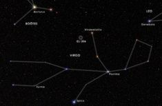 The newly imaged planet orbits the fifth-magnitude star GJ 504, also known as 59 Virginis, which is visible to the unaided eye from suburban skies in the constellation Virgo. [Read the Full Story]