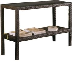 Outdoor Resin Wicker Console Table