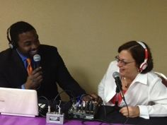 CEO, Gail Goodman getting interviewed by Bobby Rox from The FLOW Radio in Baltimore about Small Business Week!