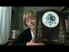 Decoupage Tutorial, Hand Painted Furniture, Master Class, Einstein, Craft Projects, Youtube, Art, Clock, Tutorials
