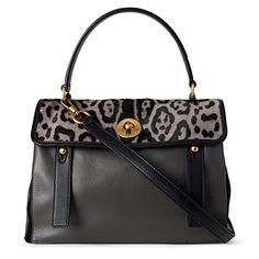 Muse leopard-print satchel