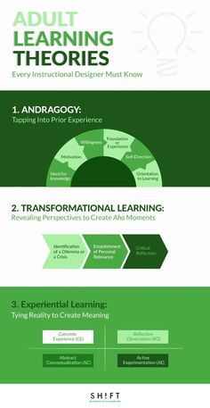 When creating any type of eLearning course, it is important to base the design on a good understanding of adult learning theories.