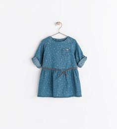 ZARA - KIDS - DENIM DRESS WITH STARS