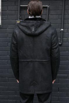 4b379855696 $472.8 Leather Jacket Men Shearling Coats Mens Fashion Slim Genuine ...