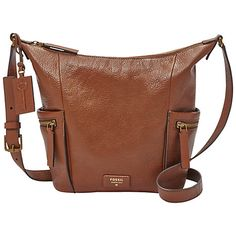 Buy Fossil Emerson Small Leather Hobo Bag Online at johnlewis.com ffcf33c3b8c72