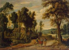 an Wildens Landscape with Christ and his Disciples on the Road to Emmaus