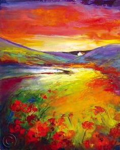 Abstract Impressionistic Artist, Christiane David