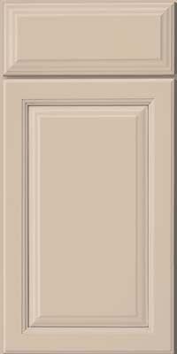 Door Detail - Bridgewater (ED1) Maple in Mushroom w/ Cinder Glaze - KraftMaid Cabinetry