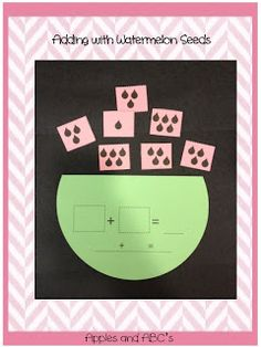 Apples and ABC's: Watermelon Craftivity: Math and LA