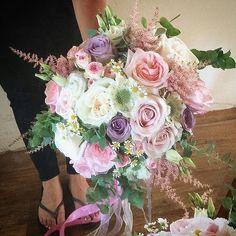 Pastel beauties by @mrs_flowerworks #meijerroses #weddinginspiration #weddingideas #weddingflowers #weddingdecor #bride #flowers #flowerstagram #flowerslover #roses