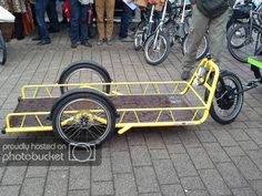 A few photos from Spezi 2016 - BentRider Online Forums Trailer Diy, Bike Trailer, Utility Trailer, Electric Bike Wheel, Electric Trike, Hauling Trailers, Velo Cargo, Tricycle Bike, Nike Gear