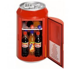 coca cola mini fridge for those who can 39 t get enough of their coke product design. Black Bedroom Furniture Sets. Home Design Ideas