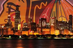 Chicago Blackhawks Skyline Poster | eBay