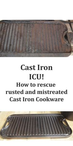 The best DIY projects & DIY ideas and tutorials: sewing, paper craft, DIY. Best Diy Crafts Ideas For Your Home Rescue Rusted Cast Iron Cookware -Read Rusted Cast Iron Skillet, Cast Iron Grill, Cast Iron Cooking, Diy Cleaning Products, Cleaning Solutions, Cleaning Hacks, Organizing Tips, How To Clean Rust, How To Remove Rust
