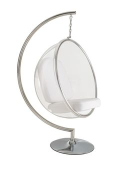 Shannon's New Room - Round Clear Cushioned Hanging Swinging Seat: 9/10