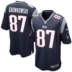 Rob Gronkowski Nike Elite NFL Stitched name and Number football jersey (Blue)