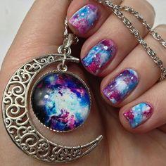 Galaxy Art Nails Galaxies Nail Tutorials Design Angel Scissors Angels