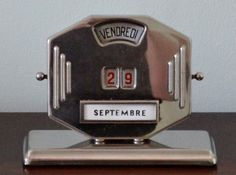 Early Art Deco French Chrome Perpetual Calendar from 1930s/40s - Great Working Order - FANTASTIC DECO DETAILS - Stamped Mistral on Etsy, $50.00