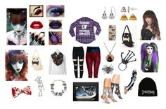 """halloween"" by odscene on Polyvore featuring Casetify, HOT SOX, HVBAO, NOVICA, Apt. 9, NYX, women's clothing, women, female and woman"