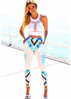 Tile Villa Slouch Pants - Bottoms by Sabo Skirt White Crop Top Outfit, Crop Top Outfits, Summer Outfits, Cute Outfits, Winter Outfits, Sabo Skirt, Street Style, Fashion Today, Swagg
