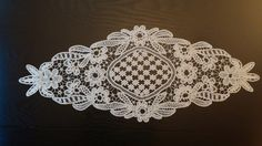 Table Centerpiece Point Lace Romanian Style by ValeriasShop