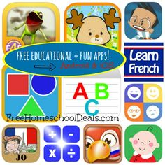 Free Educational and FUN Apps for Kids for Android and iOS!