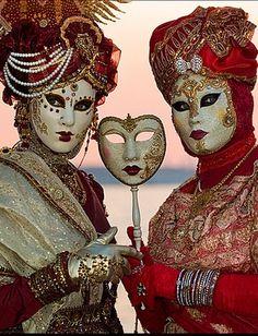 Venice Carnevale, two women in costume