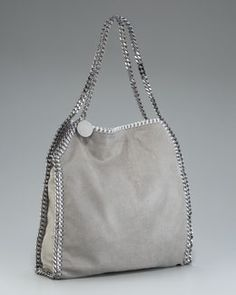 2b855e97eb884f I like the whip stich detailing. Falabella Tote, Small by Stella McCartney  at Neiman Marcus.