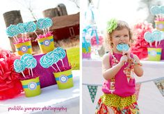 i like the buckets as candy holders.  Colorful and inexpensive