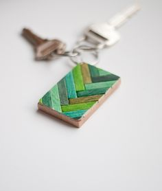 Wooden Key Chain wit