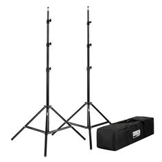 """Set of Two 7'6"""" Photography Light Stands with Carrying Bag"""