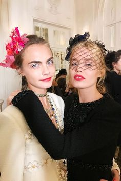 Sam McKnight describes how he created the accessorised ponytails at Chanel's Métiers D'Art show in Paris yesterday