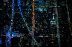 Multi-talented Swiss-born filmmaker and photographer Vincent Laforet has wowed his fans with breathtaking late-night aerial photos of New York City, illuminated by the lights of a city that never sleeps.