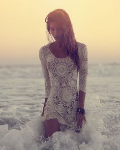 Crochet Mini Dress {if only I was thin & could get away with it, ahhh....)