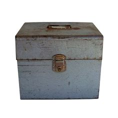 Mid Century Industrial Metal File Box with by leapinglemming, $23.95