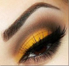 Mustard Yellow and Brown Makeup - donnamorton. - - Mustard Yellow and Brown Makeup – donnamorton. Yellow Eye Makeup, Yellow Eyeshadow, Makeup For Brown Eyes, Smokey Eye Makeup, Eyeshadow Looks, Eyeshadow Makeup, Makeup Monolid, Easy Eyeshadow, Natural Eyeshadow