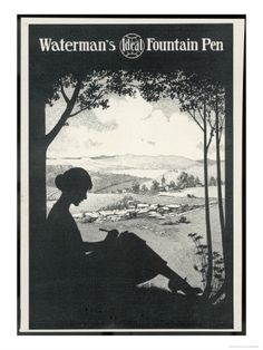 Advertisement for Waterman's ideal fountain pen