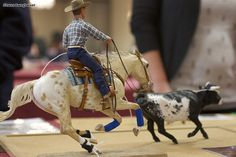 Model horse and cow - Calf Roping