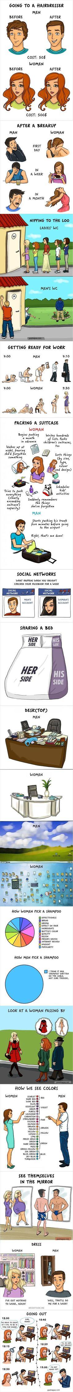 Funny Pictures Of Men vs Women