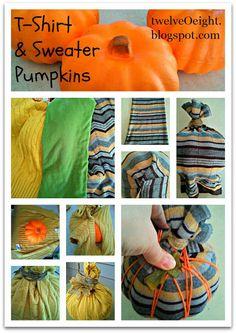 Dollar Store Craft: DIY Sweater Pumpkins - twelveOeight