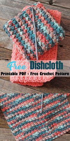 Make this free printable crunch stitch crochet dishcloth pattern. printable pdf -amorecraftylife.com #crochet #crochetpattern #diy #freecrochetpattern Crochet Scrubbies, Crochet Towel, Knit Dishcloth, Crochet Hot Pads, Crochet Stitches For Beginners, Beginner Crochet Projects, Crochet Basics, Crochet Stitches Free, Crochet Minecraft
