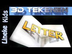 Hoe teken je 3D Letters / 3D tekenen / # 29 - YouTube