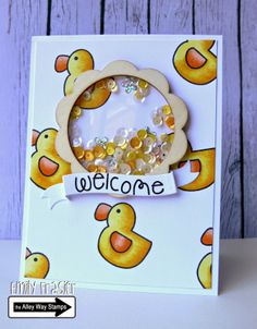 TAWS, PiecesByEmily, Emily Frasier, Nap Time, Shaker Card, Wood Veneer, Sequins